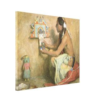 Vintage Native Americans, Hopi Katchina by Couse Canvas Print