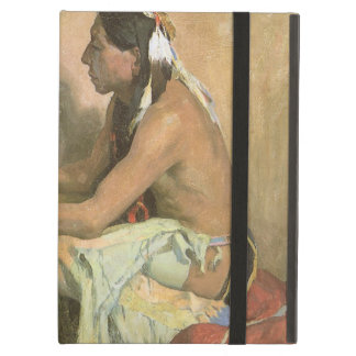 Vintage Native Americans, Hopi Katchina by Couse iPad Air Covers