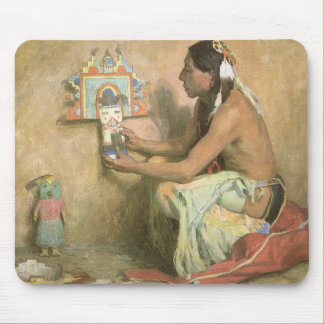 Vintage Native Americans, Hopi Katchina by Couse Mouse Pad
