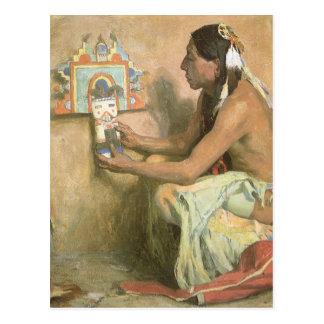Vintage Native Americans, Hopi Katchina by Couse Postcard