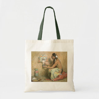 Vintage Native Americans, Hopi Katchina by Couse Tote Bag