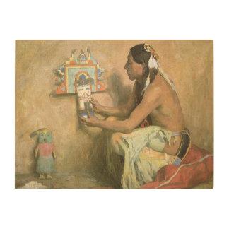 Vintage Native Americans, Hopi Katchina by Couse Wood Wall Art