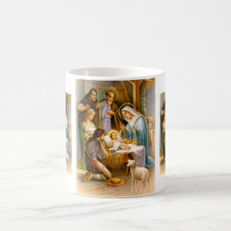 Vintage nativity coffee mug