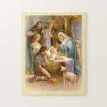 "Vintage nativity jigsaw puzzle<br><div class=""desc"">A vintage religious Christmas nativity.</div>"