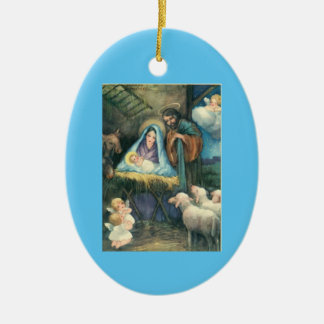 Vintage Nativity Ornament With Poem