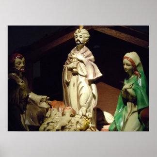 Vintage Nativity Poster