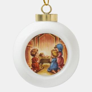 vintage nativity scene ornaments