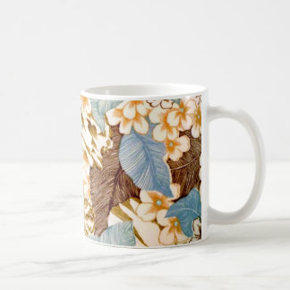 Vintage Natural Blue Floral Elaborate Design Coffee Mug