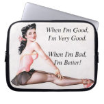 Vintage Naughty Ballerina Pin Up Girl Laptop Computer Sleeves