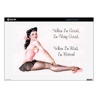 "Vintage Naughty Ballerina Pin Up Skin For 15"" Laptop"