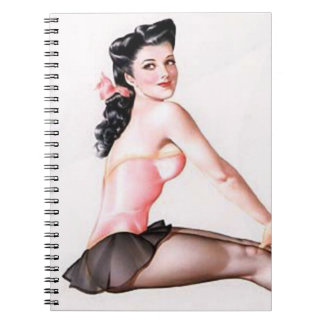 Vintage Naughty Ballerina Pin Up Spiral Notebook
