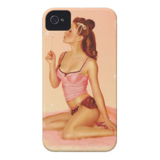 Vintage Naughty Bubbly Pin Up Girl iPhone 4 Cover