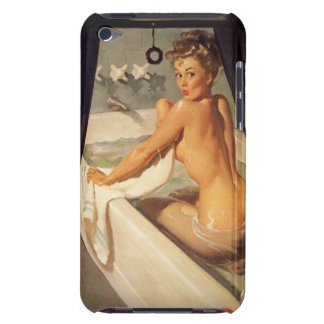 Vintage Naughty Dirty Pin Up Girl Barely There iPod Cases
