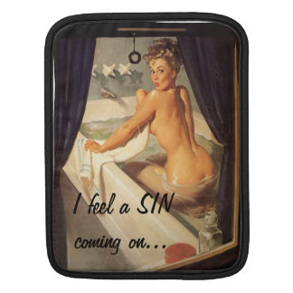 Vintage Naughty Dirty Pin Up Girl Sleeve For iPads
