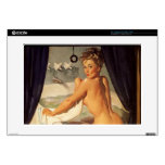 Vintage Naughty Dirty Pin Up Laptop Decal