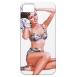 Vintage Naughty Doing the Do Pin Up Girl iPhone 5 Case