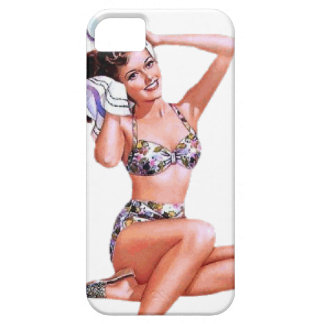 Vintage Naughty Doing the Do Pin Up Girl iPhone 5 Cover