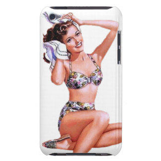 Vintage Naughty Doing the Do Pin Up Girl iPod Touch Cases
