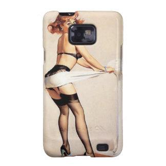Vintage Naughty Fitness Guru Pin Up Girl Galaxy S2 Case