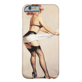 Vintage Naughty Fitness Guru Pin Up Girl Barely There iPhone 6 Case