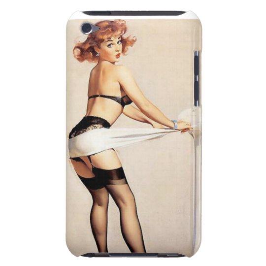 Vintage Naughty Fitness Guru Pin Up Girl iPod Case-Mate Case