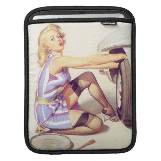 Vintage Naughty Handy Pin Up Girl iPad Sleeve