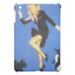 Vintage Naughty Lady-in-Black Pin Up Girl iPad Mini Covers