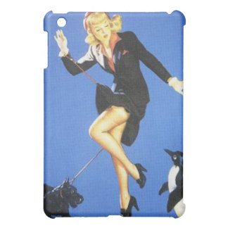 Vintage Naughty Lady-in-Black Pin Up Girl iPad Mini Cases