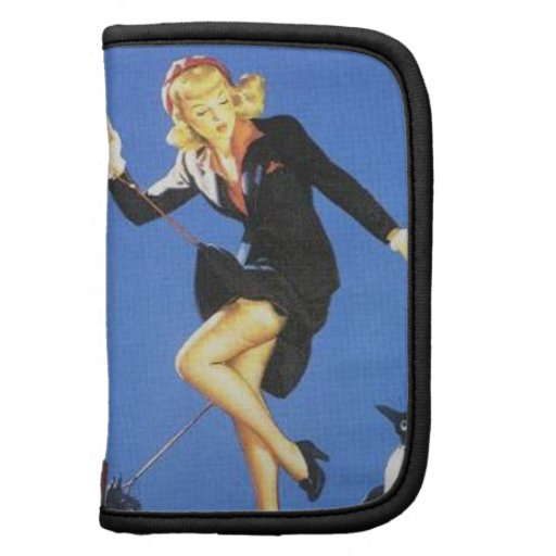 Vintage Naughty Lady-in-Black Pin Up Girl Planners