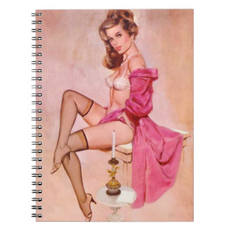 Vintage Naughty Mistress Pin Up Notebook