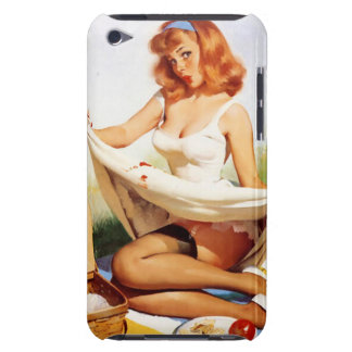 Vintage Naughty Picnic Pin Up Girl iPod Touch Cover