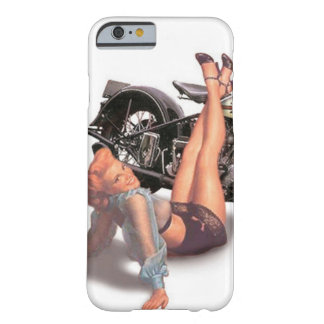 Vintage Naughty Playful Biker Pin Up Girl Barely There iPhone 6 Case