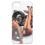 Vintage Naughty Playful Biker Pin Up Girl iPhone 5 Cases