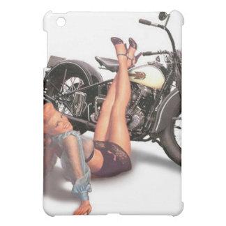 Vintage Naughty Playful Biker Pin Up Girl iPad Mini Cases