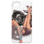 Vintage Naughty Playful Biker Pin Up Girl iPhone SE/5/5s Case