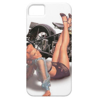 Vintage Naughty Playful Biker Pin Up Girl iPhone SE/5/5s Case