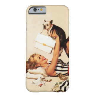 Vintage Naughty Puppy Love Pin Up Girl Barely There iPhone 6 Case