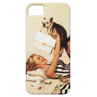 Vintage Naughty Puppy Love Pin Up Girl iPhone SE/5/5s Case