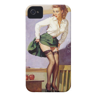 Vintage Naughty Teacher Pin Up Girl iPhone 4 Case