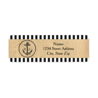 Vintage Nautical Anchor - Address Labels
