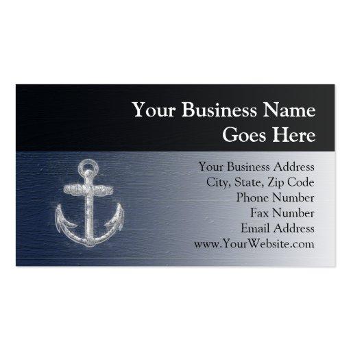 Vintage Nautical Anchor Business Card Templates
