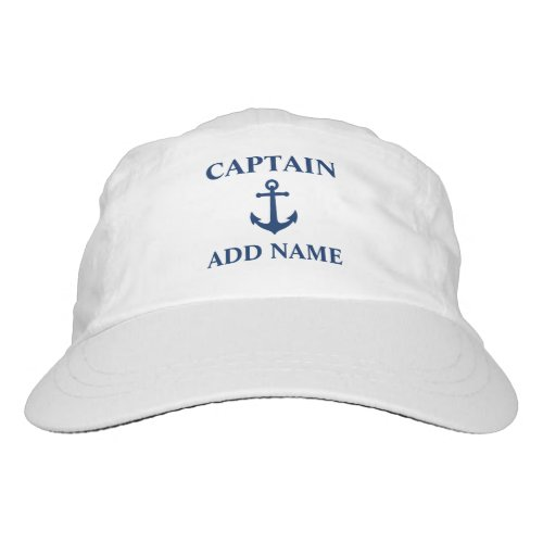 Vintage Nautical Anchor Captain or Boat Name Hat