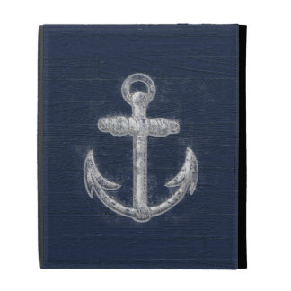Vintage Nautical Anchor iPad Folio Cases
