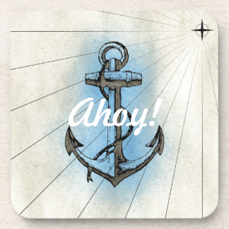 Vintage Nautical Anchor Drink Coaster