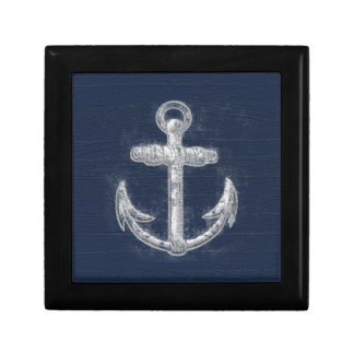 Vintage Nautical Anchor Trinket Box
