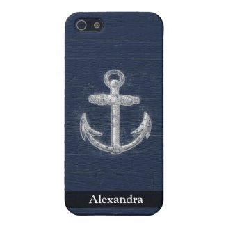 Vintage Nautical Anchor iPhone 5 Case