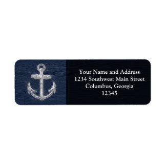 Vintage Nautical Anchor Custom Return Address Labels