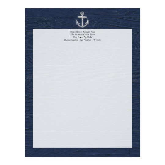 Vintage Nautical Anchor Letterhead