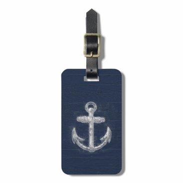 Vintage Nautical Anchor Luggage Tag