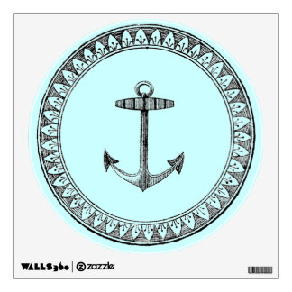 Vintage Nautical Anchor Medallion Wall Sticker